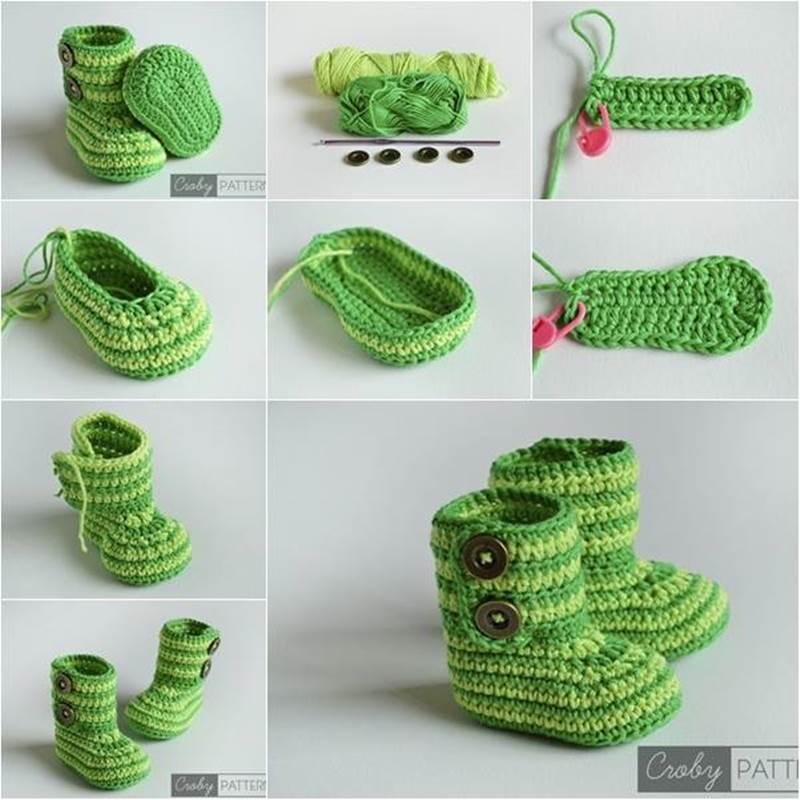 Botitas de crochet para bebe
