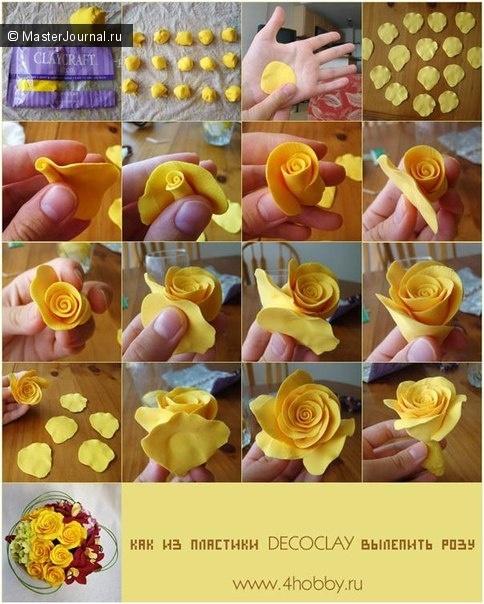 Como hacer rosas amarillas con fieltro