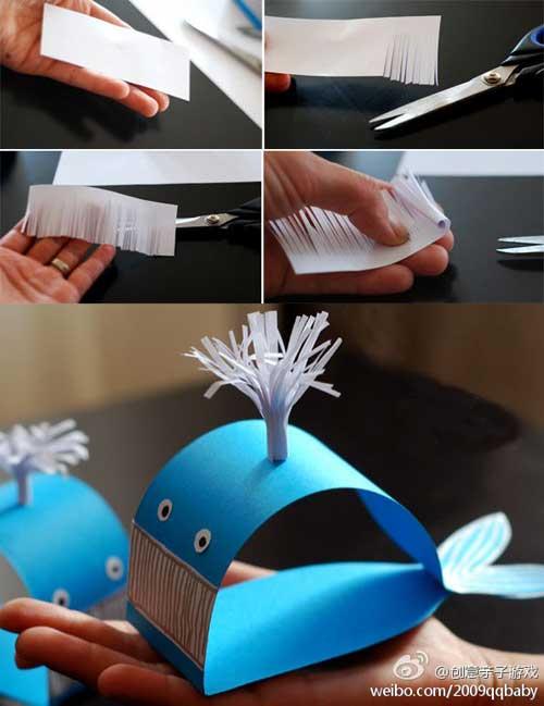 como hacer una ballena de papel 2