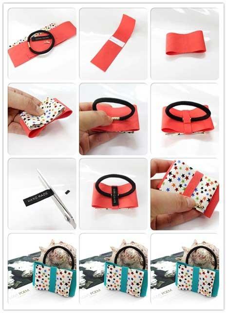 hacer accesorios pelo cinta