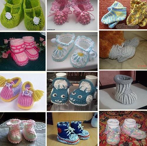 zapatitos para bebe recien nacido en crochet (2)