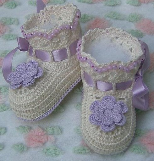 zapatitos para bebe recien nacido en crochet (3)