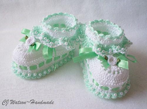 zapatitos para bebe recien nacido en crochet (4)