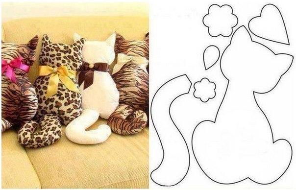 Como hacer una almohada de gato con patrones