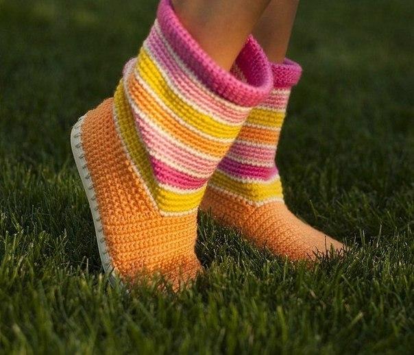 botas tejidas en crochet niñas (1)