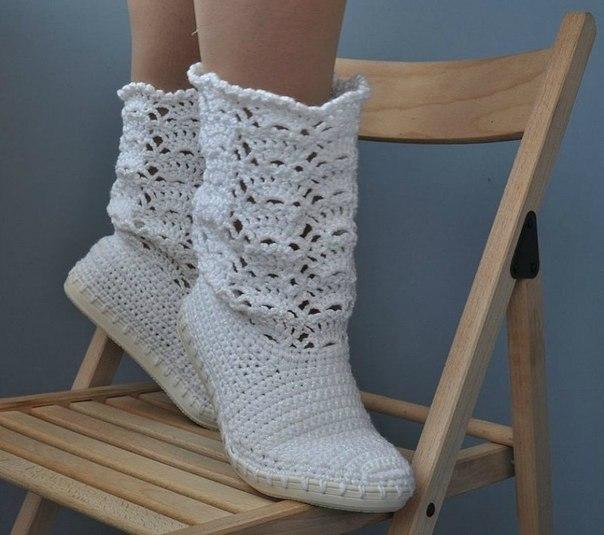 botas tejidas en crochet niñas (2)