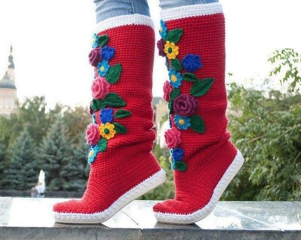 botas tejidas en crochet niñas (4)