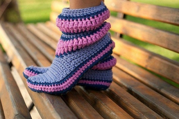 botas tejidas en crochet niñas (5)