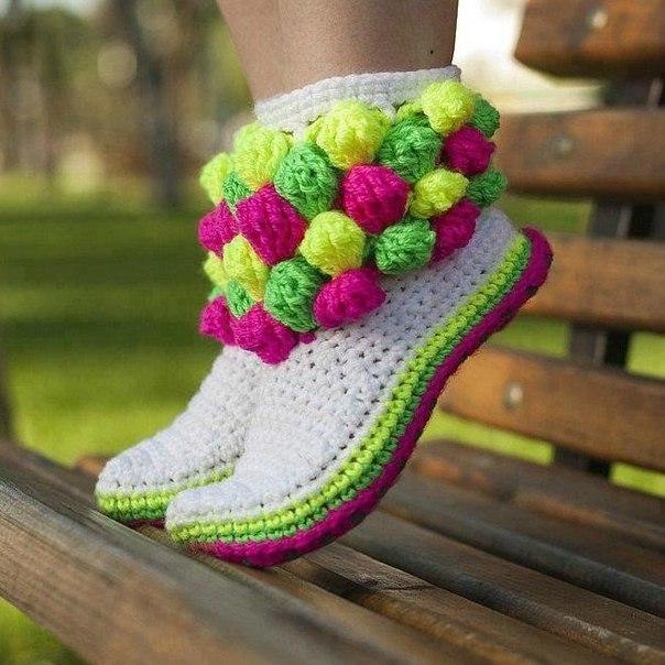 botas tejidas en crochet niñas (6)