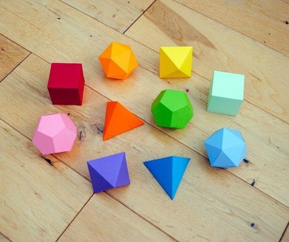 patron para hacer figuras geometricas
