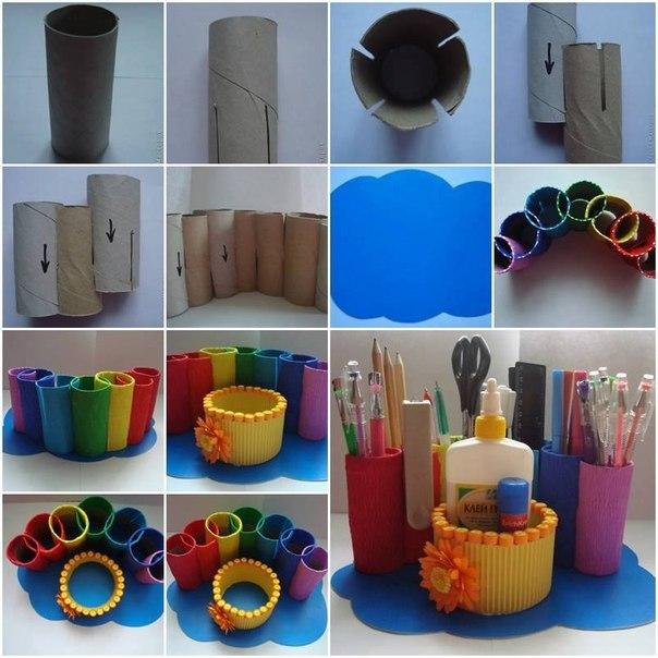 porta utiles escolares de carton reciclado