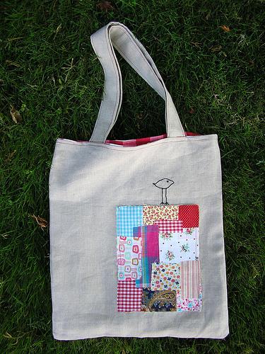 Bolsa de tela estilo patchwork - Como hacer pachwork ...