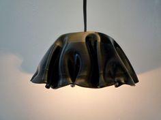 Lámparas con discos de vinilo