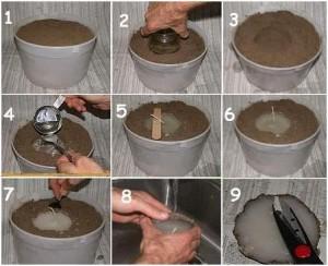 Como hacer velas de arena