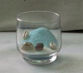 Como hacer velas de gel con arena y conchas de mar