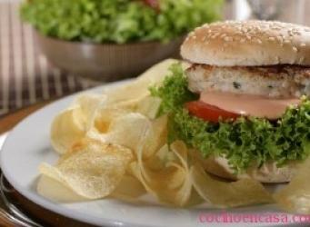 Como hacer hamburguesas de pollo receta