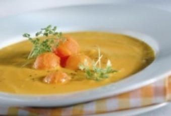 Sopa de calabaza al jamon