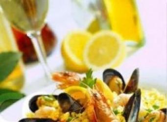 Receta de Paella de mariscos
