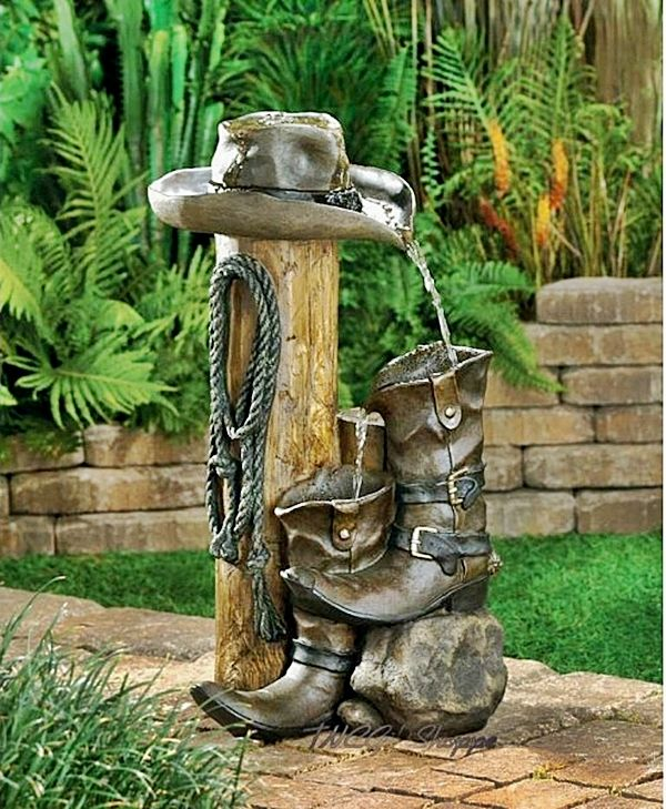 Western Backyard Ideas : Decoraciones Para el Jardin con Materiales Reciclable (10)