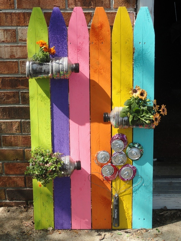 Decoraciones Para el Jardin con Materiales Reciclable (11)