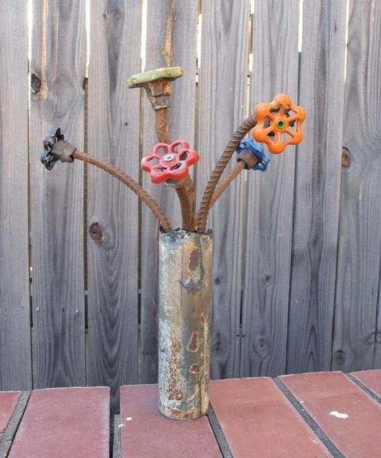 Decoraciones Para el Jardin con Materiales Reciclable (12)