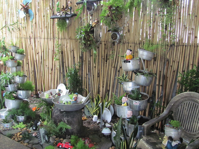 Decoraciones Para el Jardin con Materiales Reciclable (4)