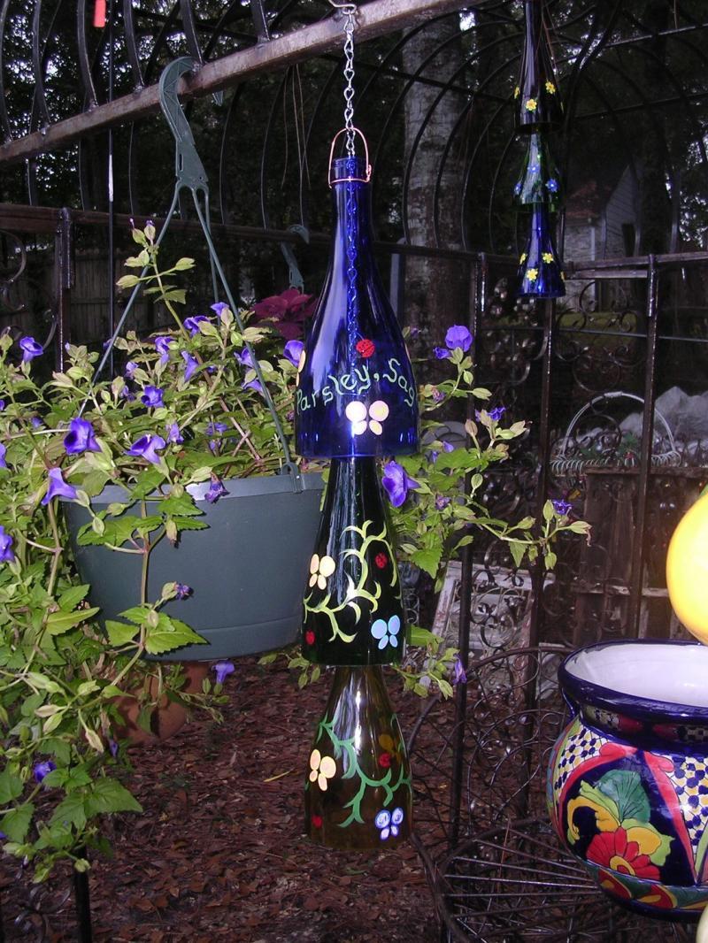 Decoraciones Para el Jardin con Materiales Reciclable8bg
