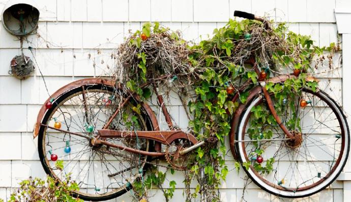 Ideas de Cómo reciclar bicicletas viejas14
