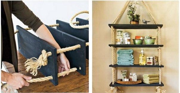 Ideas de estantes con materiales reciclados (1)