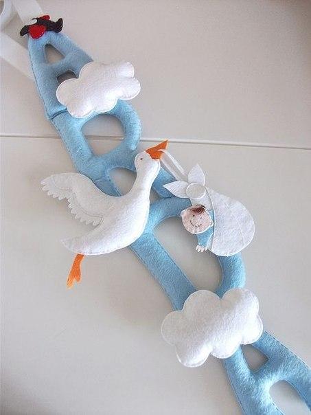 Molde para Hacer Cigueñas de Fieltro para Baby Shower Gratis (7)