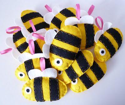 Molde para hacer diferentes abeja de fieltro Gratis (4)