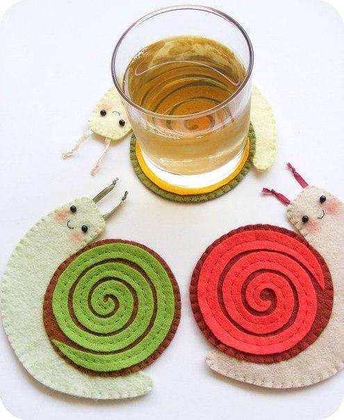 Moldes de caracoles de fieltro y foami (6)