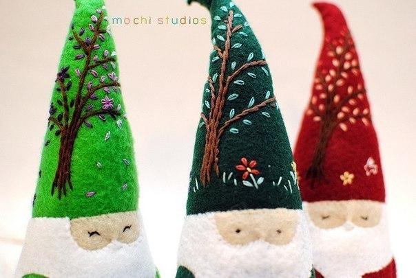 Moldes para hacer duendes de navidad en fieltro (1)