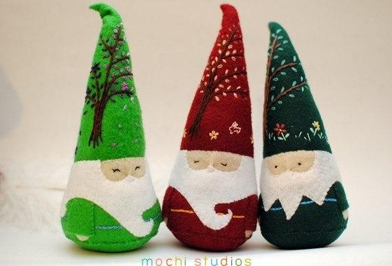 Moldes para hacer duendes de navidad en fieltro (2)