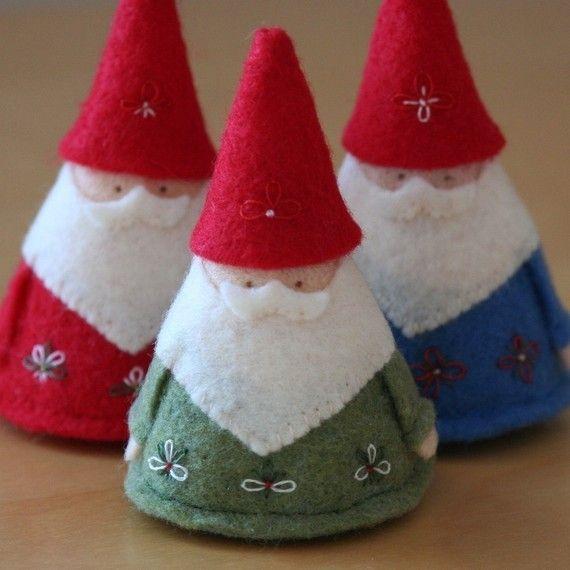 Moldes para hacer duendes de navidad en fieltro (4)