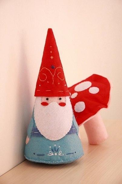 Moldes para hacer duendes de navidad en fieltro (5)