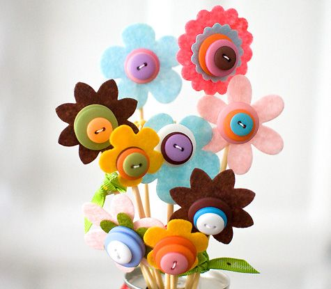 Moldes para hacer flores de fieltro (3)