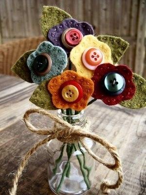 Moldes para hacer flores de fieltro (6)