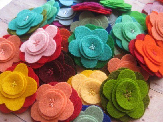 Moldes para hacer flores de fieltro (7)