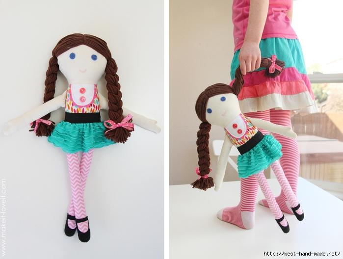 Moldes para hacer una muñeca de tela (3)
