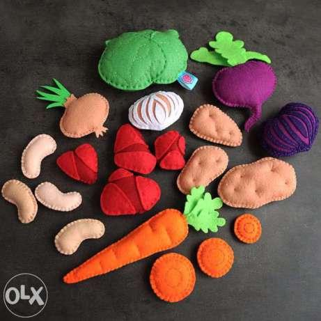 moldes para hacer verduras de fieltro (1)