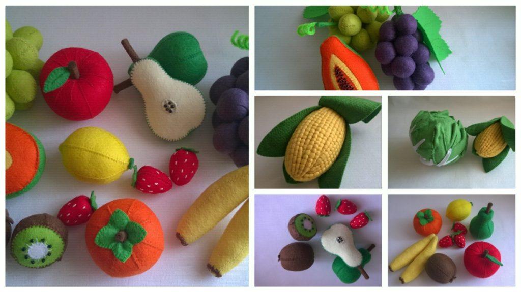 moldes para hacer verduras de fieltro (2)
