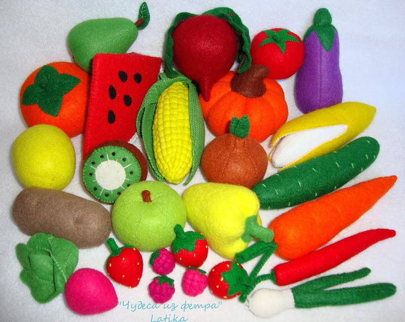 moldes para hacer verduras de fieltro (4)