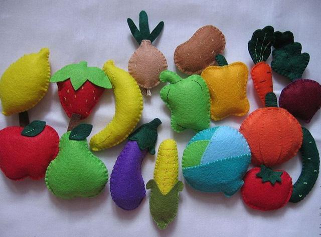 moldes para hacer verduras de fieltro (5)