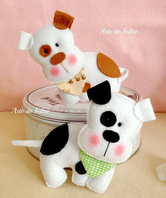 Moldes para hacer perros de fieltro (2)