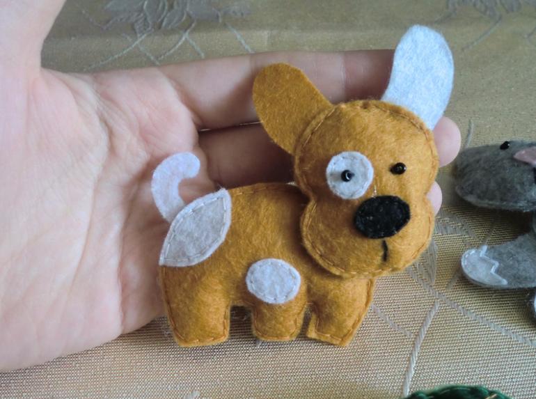 Moldes para hacer perros de fieltro (3)