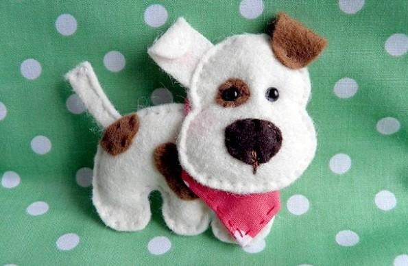 Moldes para hacer perros de fieltro (4)