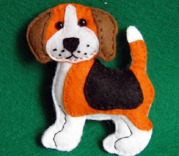 Moldes para hacer perros de fieltro (6)
