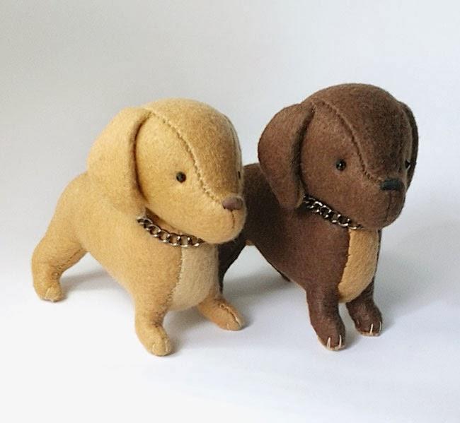 Moldes para hacer perros de fieltro (7)
