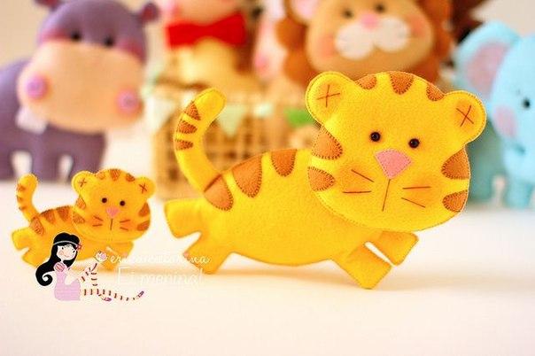 Moldes para hacer tigres de fieltro para imprimir08